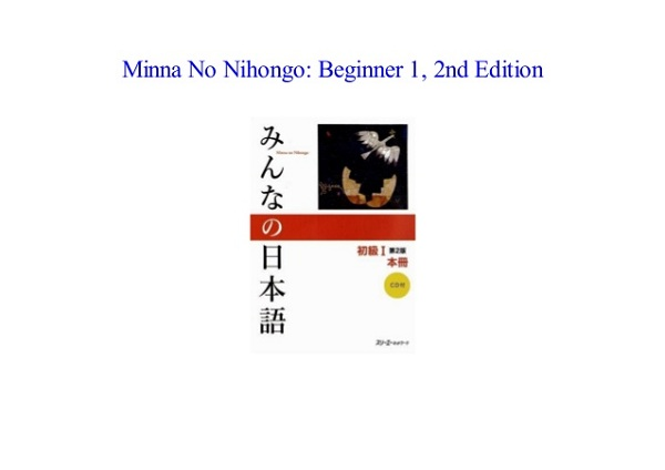 Minna no Nihongo Beginner 1 2nd edition pdf - wordgrammar net